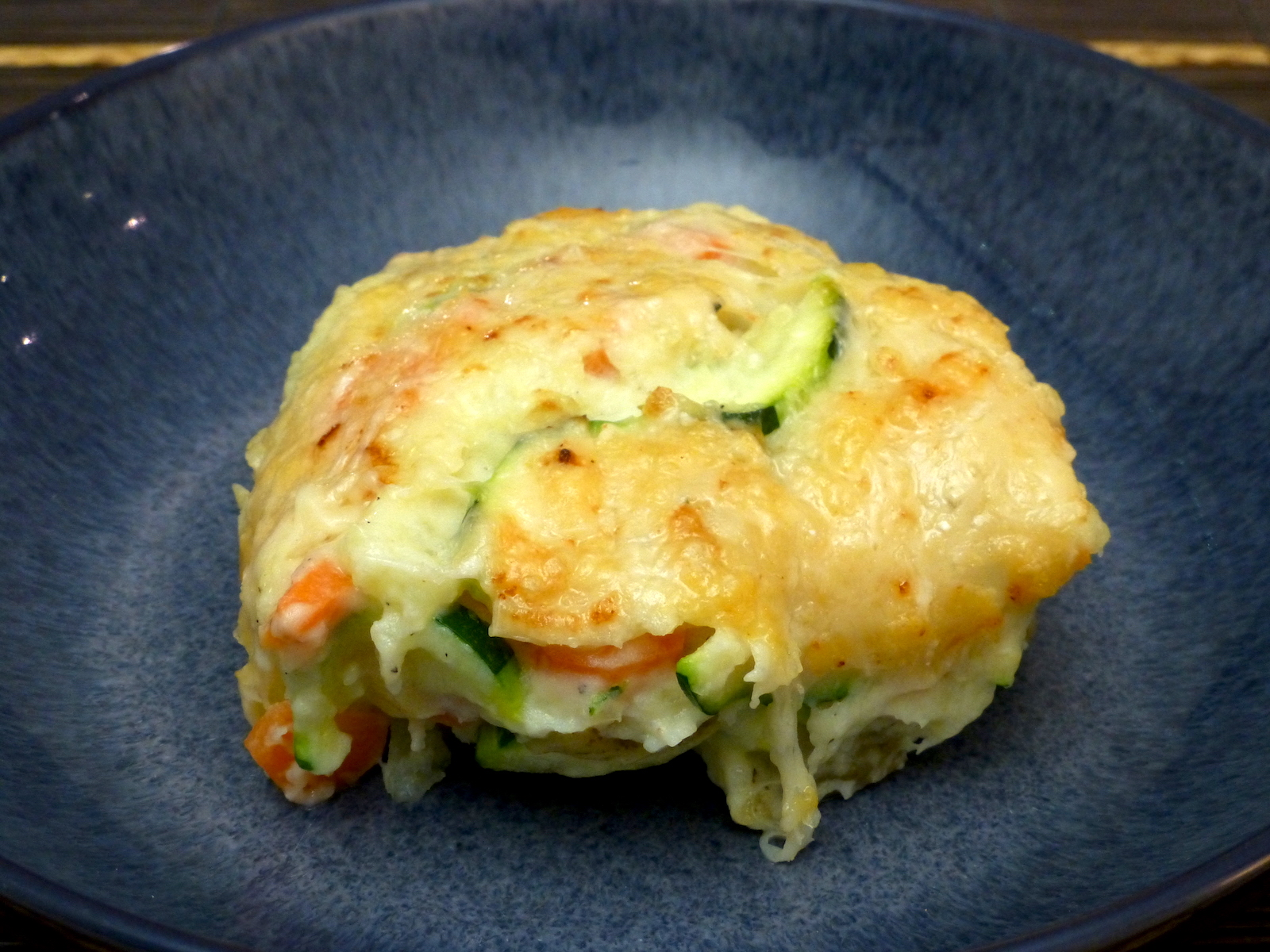 Potato and vegetable bake with cream cheese