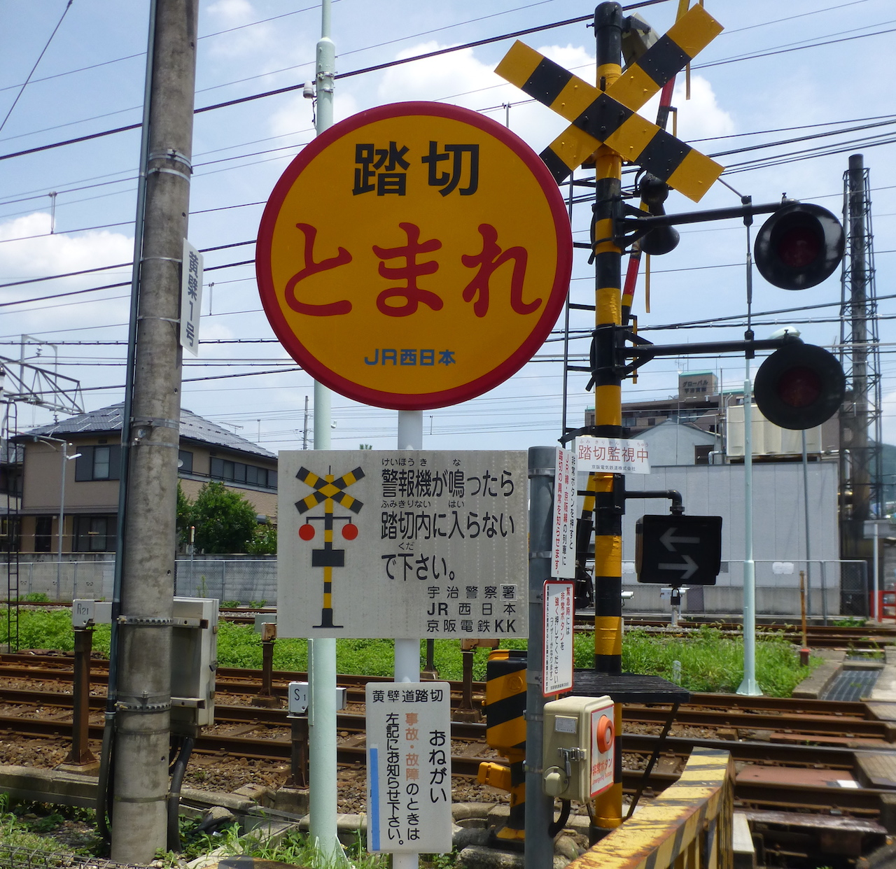 Railway crossing near Kyoto